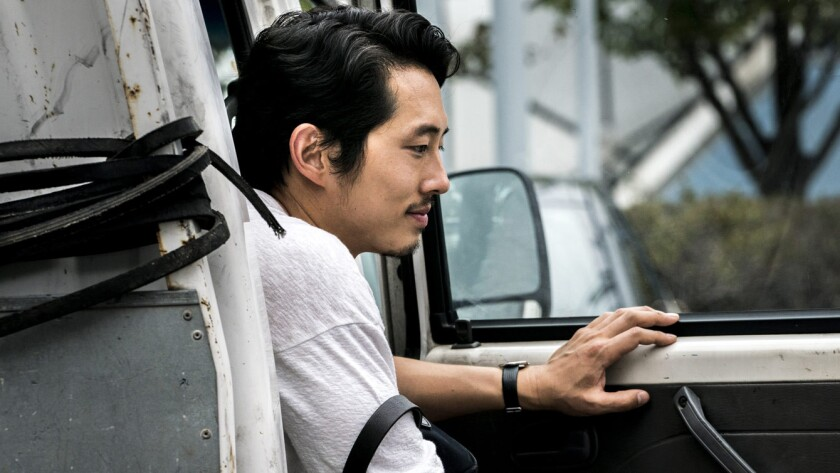 "Steven Yeun in a scene from the movie ""Burning."" Credit WellGo USA"