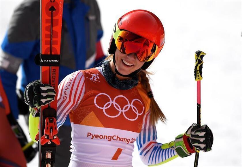 La estadounidense Mikaela Shiffrin consiguió este jueves el segundo título olímpico de su carrera al ganar la prueba de eslalon gigante de esquí alpino en los Juegos Olímpicos de Invierno de PyeongChang (Corea del Sur). EFE