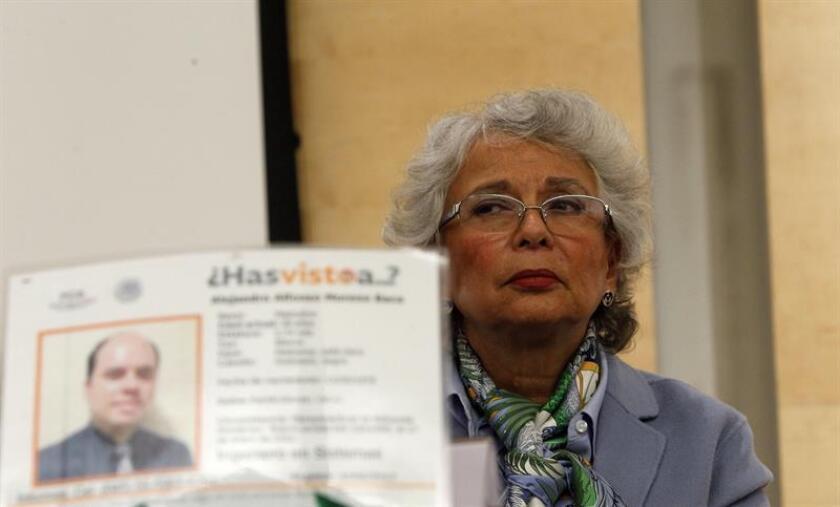 La próxima secretaria de Gobernación, Olga Sánchez Cordero, durante una rueda de prensa en Ciudad de México. EFE/Archivo