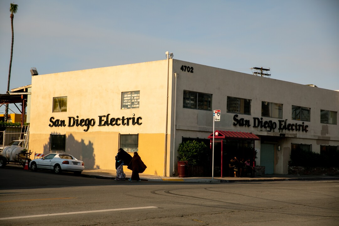 A view of San Diego Electric on University Avenue near Euclid Avenue.