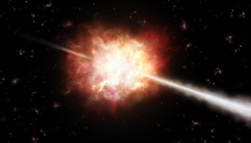"""La investigación realizada a través del telescopio espacial Fermi de la NASA ha confirmado un ciclo de dos años en el brillo de rayos gamma de una galaxia """"activa"""", después de diez años de observaciones, explicó hoy el equipo científico en una rueda de prensa en Baltimore (Maryland). EFE/CORTESÍA/ESO/SOLO USO EDITORIAL"""