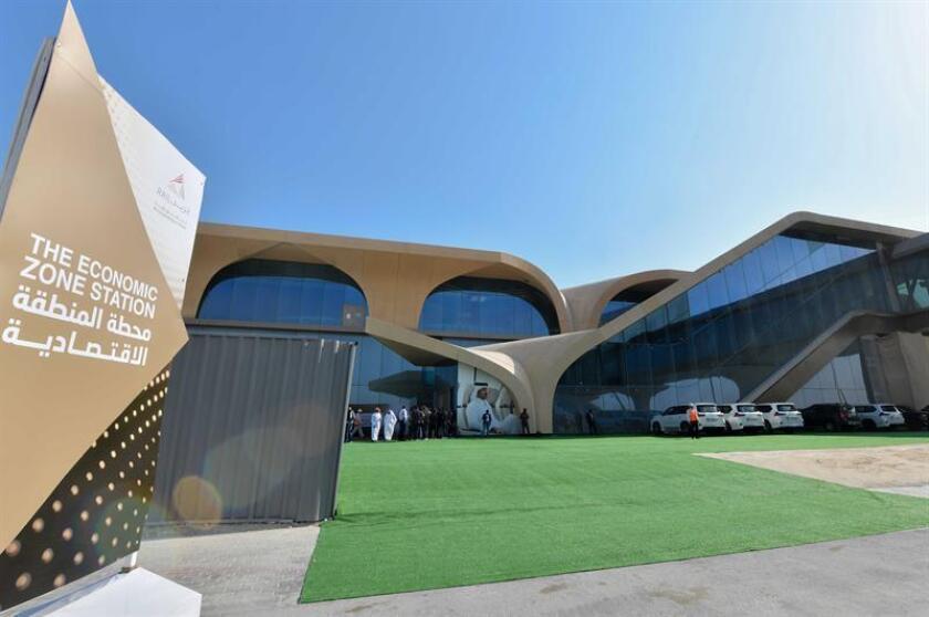 Vista del exterior de la nueva estación de metro de Economic Zone en Doha (Catar). La construcción completa del sistema de metro de Doha finalizará en 2020, de cara al Mundial de fútbol Catar 2022. EFE/Archivo