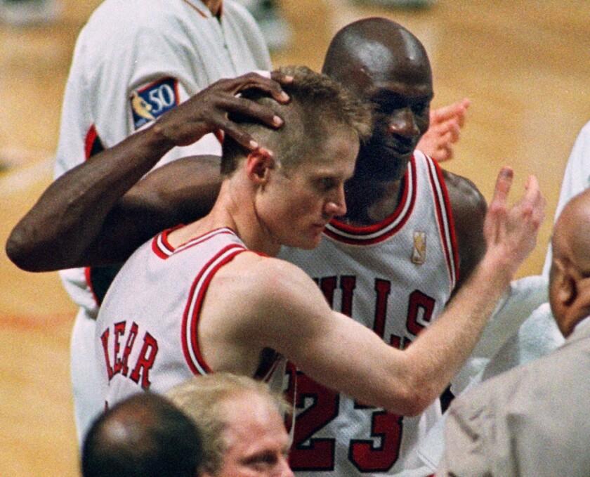 Steve Kerr and Michael Jordan.