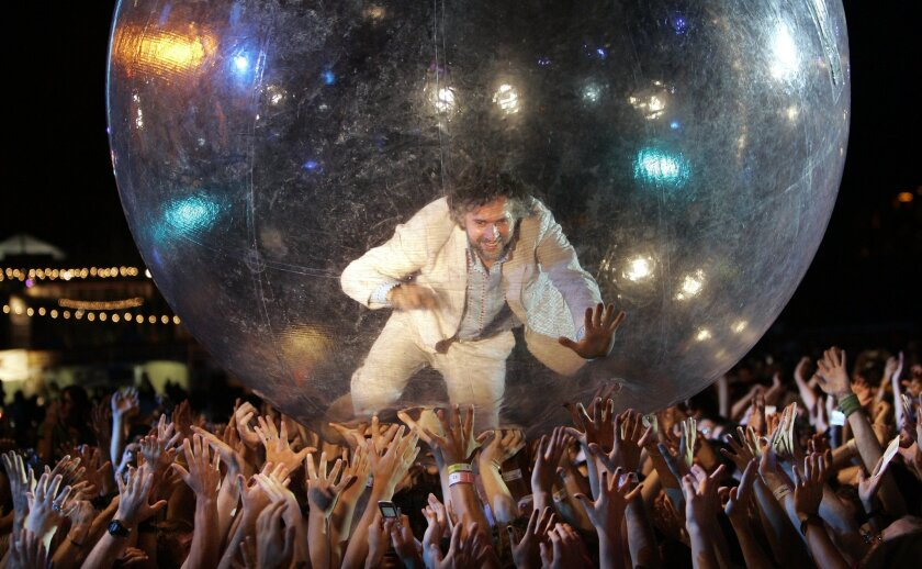 Flaming Lips will headline the second edition of the two-day CRSSD Fest in October at Waterfront Park. Above, Lips' singer Wayne Coyne is shown performing at the 2005 edition of San Diego Street Scene.