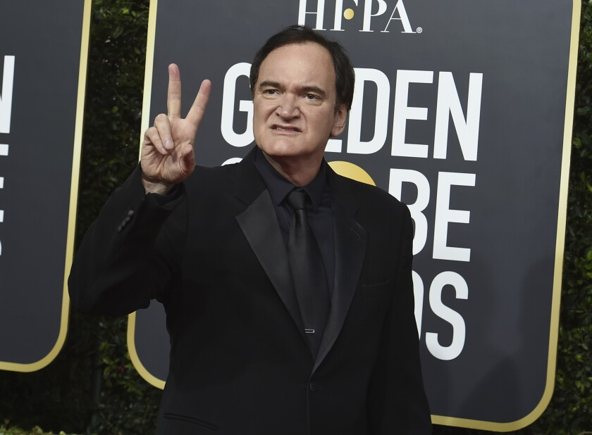 Quentin Tarantino arrives at the 77th annual Golden Globe Awards at the Beverly Hilton Hotel on Sunday, Jan. 5, 2020, in Beverly Hills, Calif. (Photo by Jordan Strauss/Invision/AP)