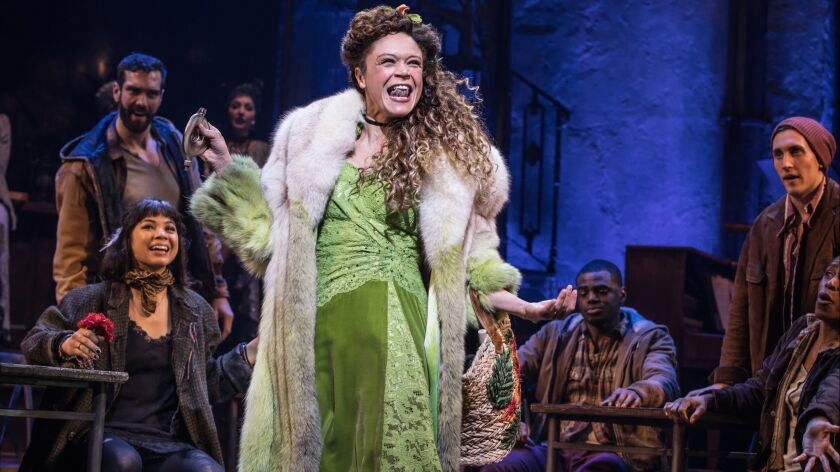 """Amber Gray and the Broadway cast of """"Hadestown"""" perform Sunday at the Tony Awards."""