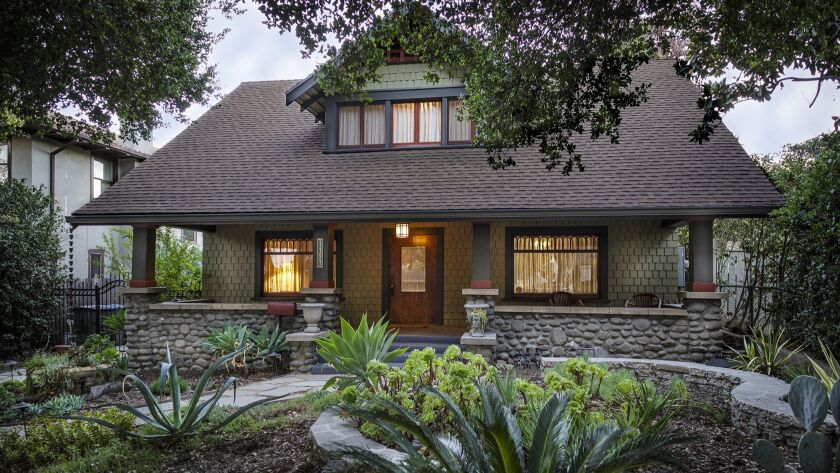 Peek inside a classic Arts and Crafts bungalow at the Garfield Heights Home Tour in Pasadena on Dec. 2.