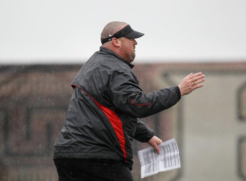 Dan Finn was SDSU's offensive line coach in 2011.