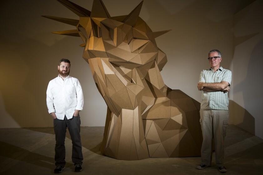 Yosi Sargent and artist Joseph DeLappe