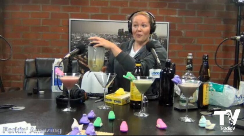 Noelle Carter demonstrates making a Peeps-tini on 'Forkin Amazing.'