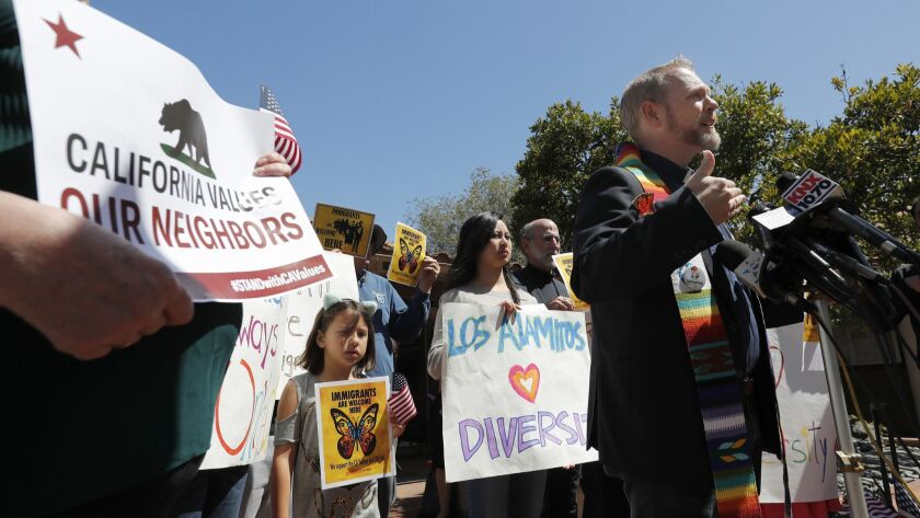 """""""Los Alamitos' illegal ordinance causes serious harm to my ability to serve my congregation,"""" the Rev. Samuel Pullen says."""