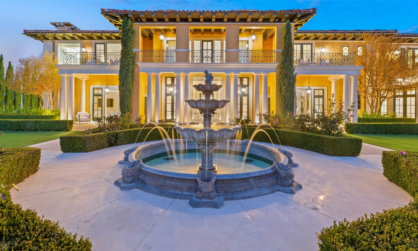 The 13,500-square-foot villa holds six bedrooms, 10 bathrooms and a handful of high-tech living spaces.