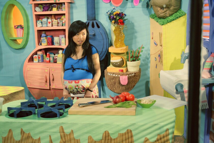 "Thu Tran in 2009 in her late IFC series ""Food Party."" She is back with a host of online goodies."