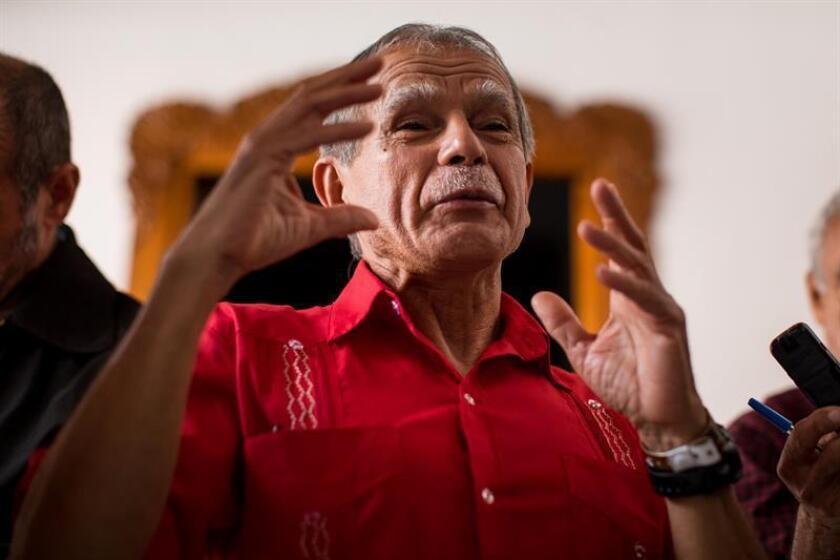 El independentista puertorriqueño Oscar López Rivera fue el encargado de abrir la sesión, pidiendo al comité que lleve el caso a la Asamblea General de la ONU. EFE/Archivo