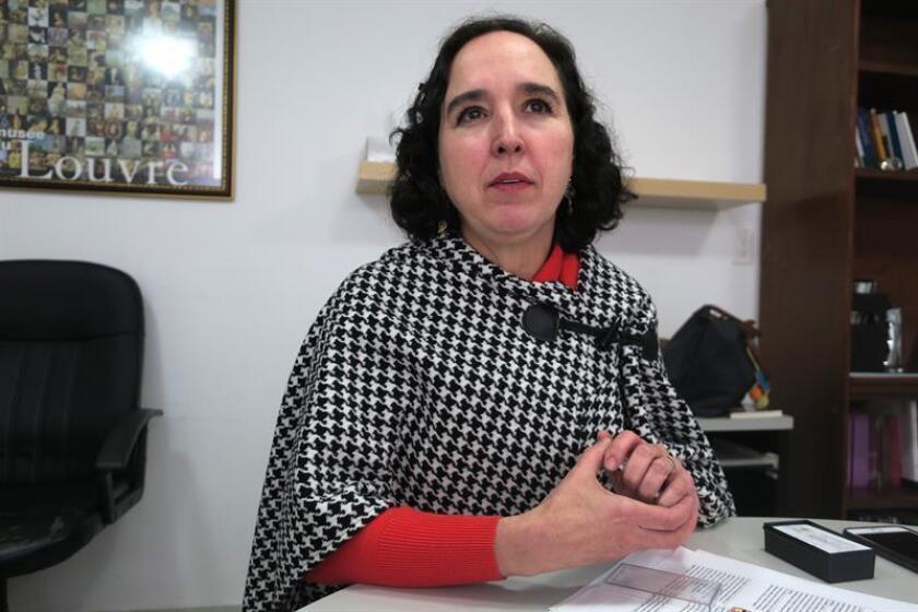 Fotografía fechada el 14 de noviembre de 2018 que muestra a la directora de la ONG Sin Fronteras, Ana Saiz, durante una entrevista con Efe, en Ciudad de México (México). EFE