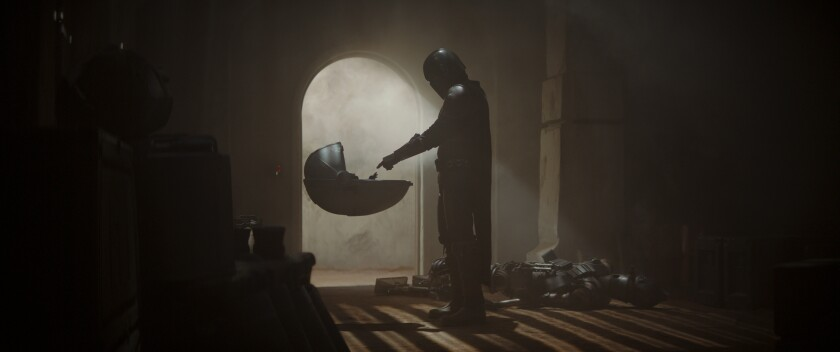 Mando and the Child in 'The Mandalorian'