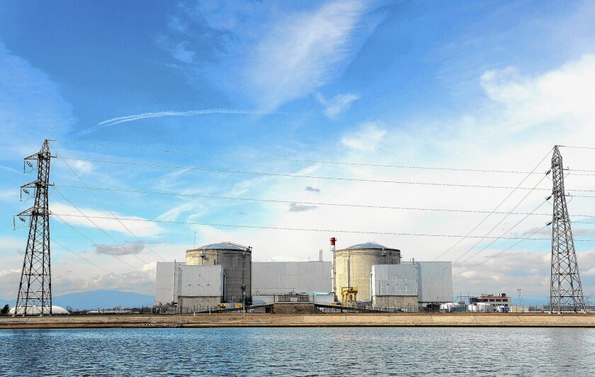 The nuclear plant in Fessenheim, France, is set to close in 2016. The country gets 75% of its energy from nuclear power.