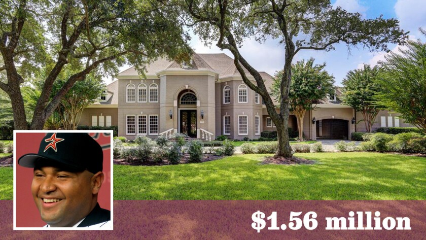 Former Astros and Rangers slugger Carlos Lee had asked as much as $1.9 million for the 9,117-square-foot home.