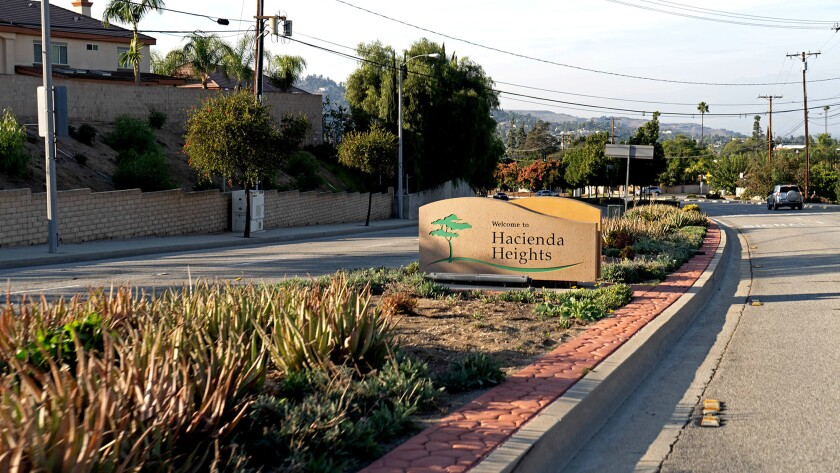 Hacienda Heights is the dictionary definition of a suburb, with pleasant tree-lined streets, plentiful single-family homes and a low crime rate.