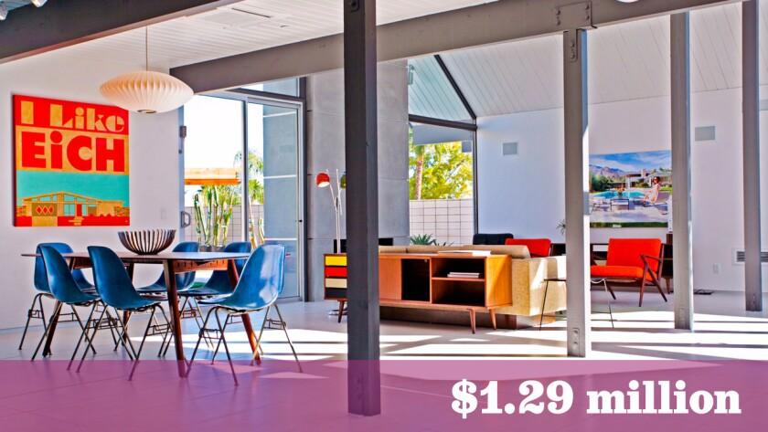 The Palm Springs residence, built using Joseph Eichler's original blueprints, sold in a day for $1.29 million.