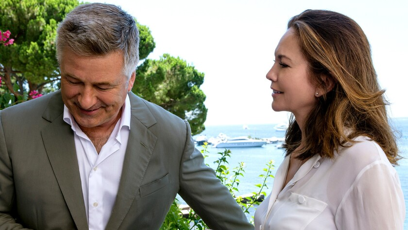 """Alec Baldwin and Diane Lane star in the 2016 comedy """"Paris Can Wait"""" on Starz."""