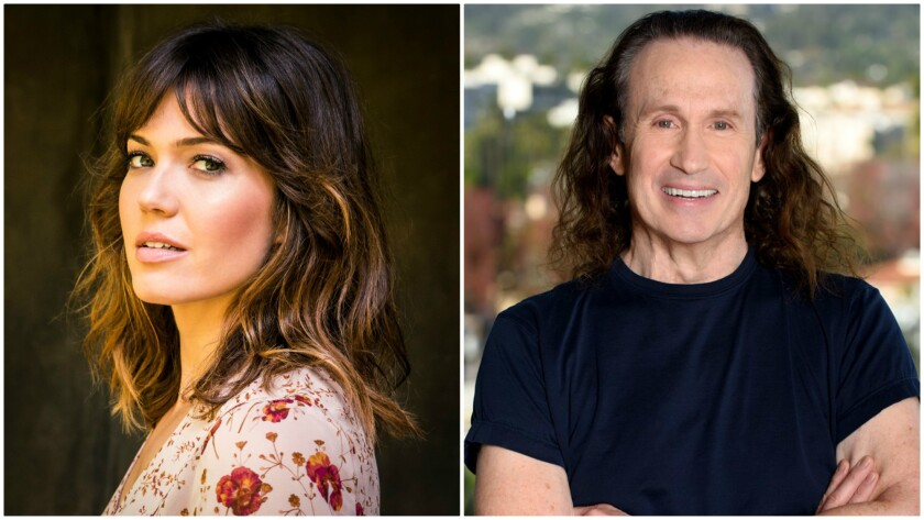 """""""This Is Us"""" star Mandy Moore, left, has been announced as the host of the Costume Designers Guild Awards at the Beverly Hilton on Feb. 21. Costume designer Jeffrey Kurland, right, will receive this year's Career Achievement Award."""