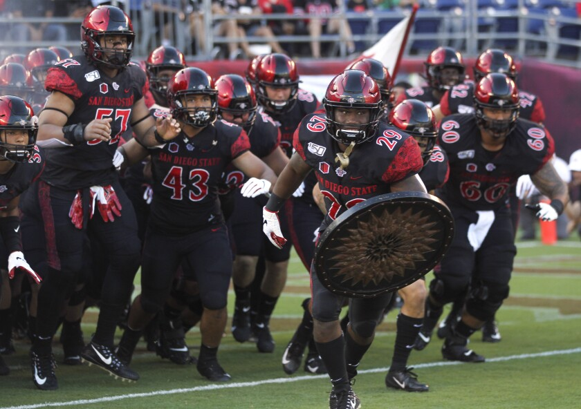 San Diego State takes a 3-0 record into Saturday night's Mountain West season opener against Utah State.