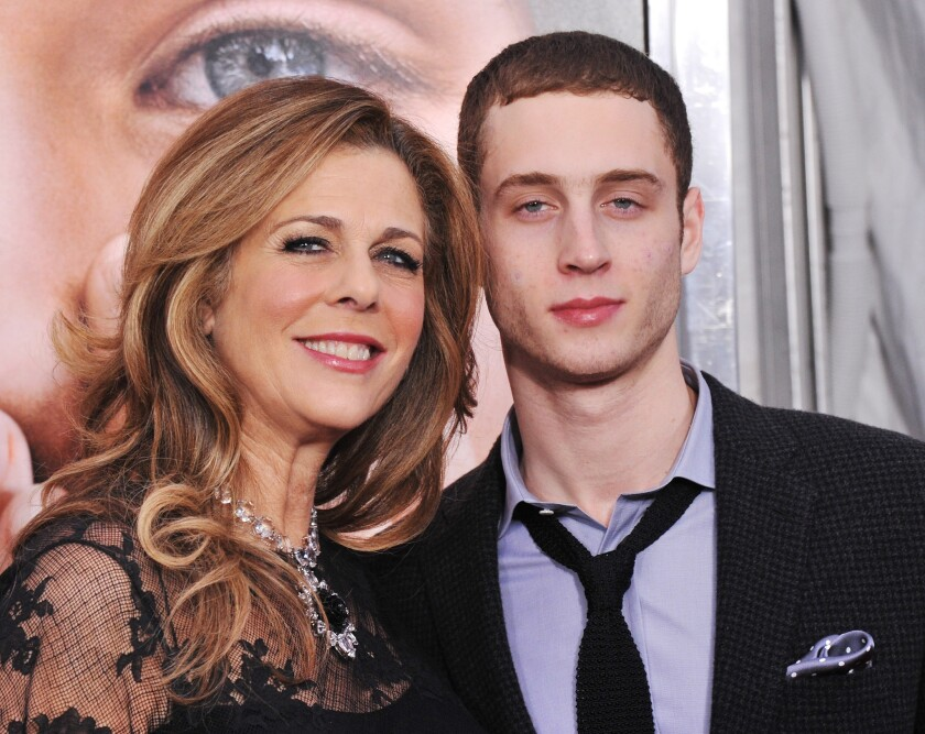Rapper Chet Hanks, photographed here with his mother Rita Wilson in 2011, is defending the use of the N-word.