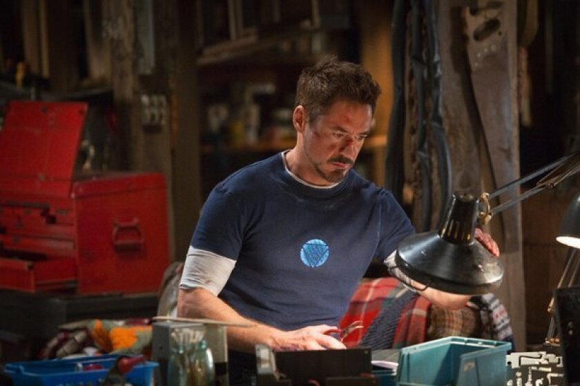 """""""Iron Man 3"""" starring Robert Downey Jr. is expected to dominate the box office."""