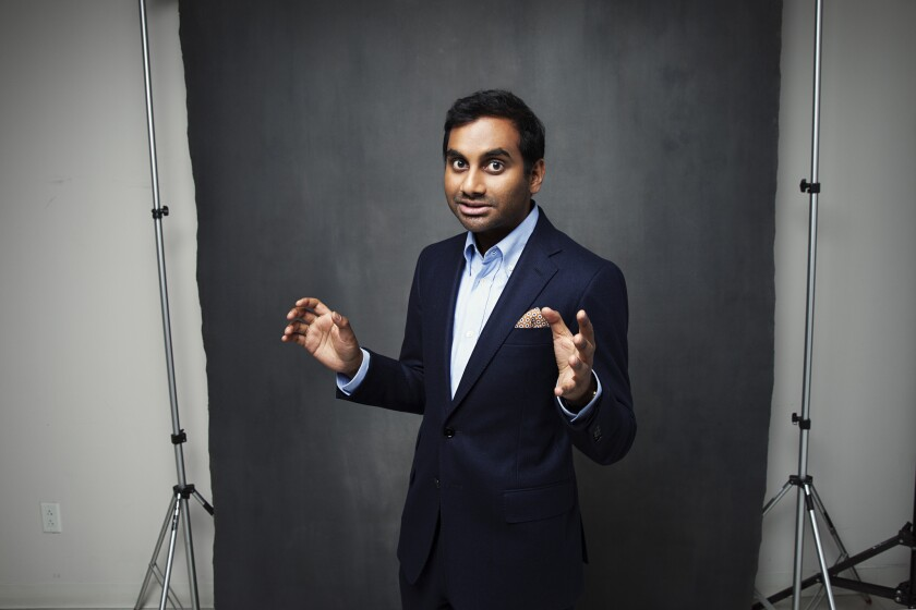 """""""The chance for an Indian guy to star in his own show and do an episode like 'Indians on TV' — that doesn't come around a lot, right?"""" Aziz Ansari says."""