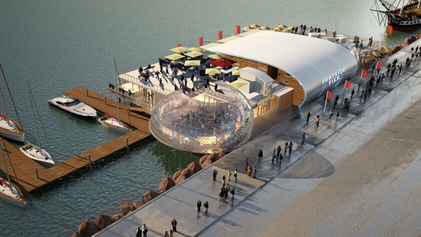 Portside Pier would replace Anthony's Fish Grotto, just south of the Star of India, on North Harbor Drive.