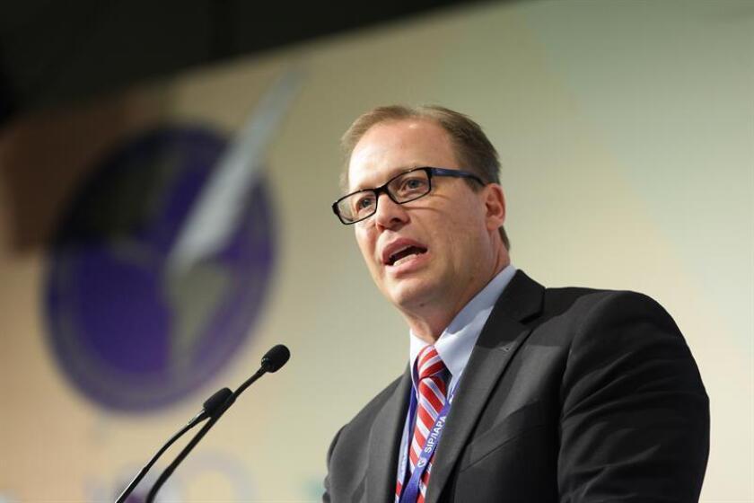 El presidente de la Asamblea General de la Sociedad Interamericana de Prensa (SIP), Matthew Sander. EFE/Archivo