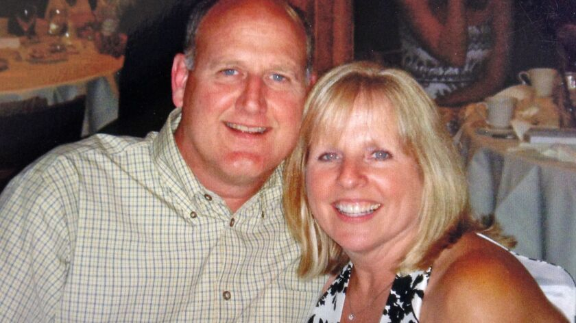 Richard Bigler and his wife, Theresa Bigler. She claims in a lawsuit that her husband was infected a