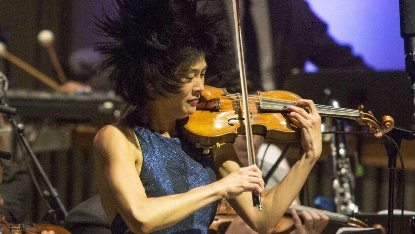 OJAI, CALIF. -- THURSDAY, JUNE 8, 2017: Violinist Jennifer Koh during performance of Vijay Iyer's '
