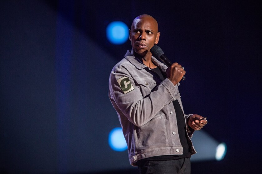 """Dave Chappelle in a scene from his earlier Netflix special, """"Dave Chappelle: Equanimity & the Bird Revelation."""""""