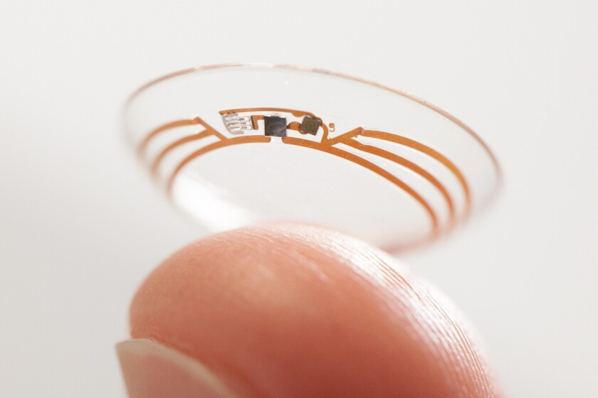 Google filed for patents in April for technology related to smart contact lenses.
