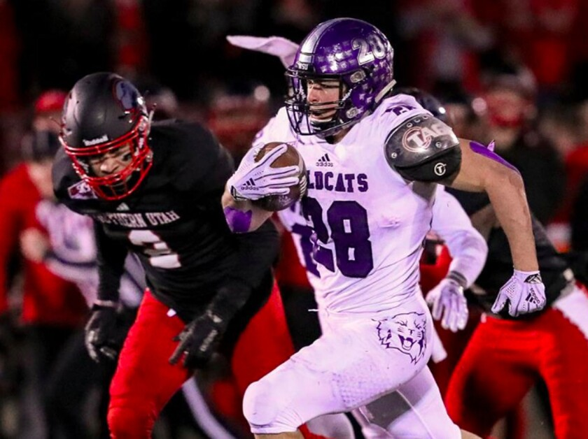 Weber State running back Josh Davis rushed for 1,362 yards and nine touchdowns last season for the Wildcats.