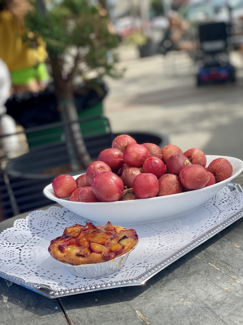 Girard Gourmet is currently offering seasonal fruit tarts, made from plums and other fruits the owners grow on their farm