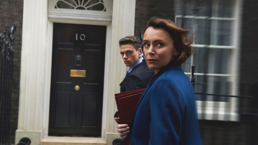 "Richard Madden plays a police agent charged with protecting politician Keeley Hawes in the new Netflix series ""Bodyguard."""