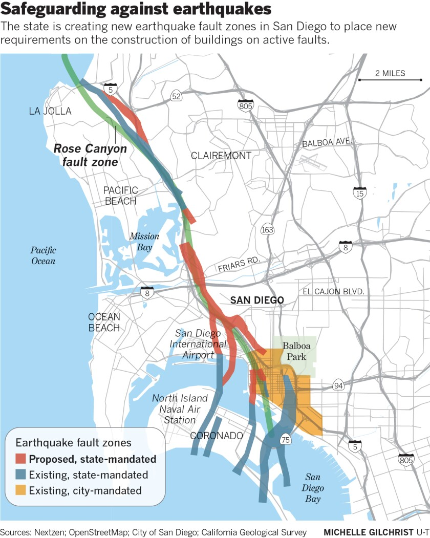 The state is creating new earthquake fault zones in San Diego