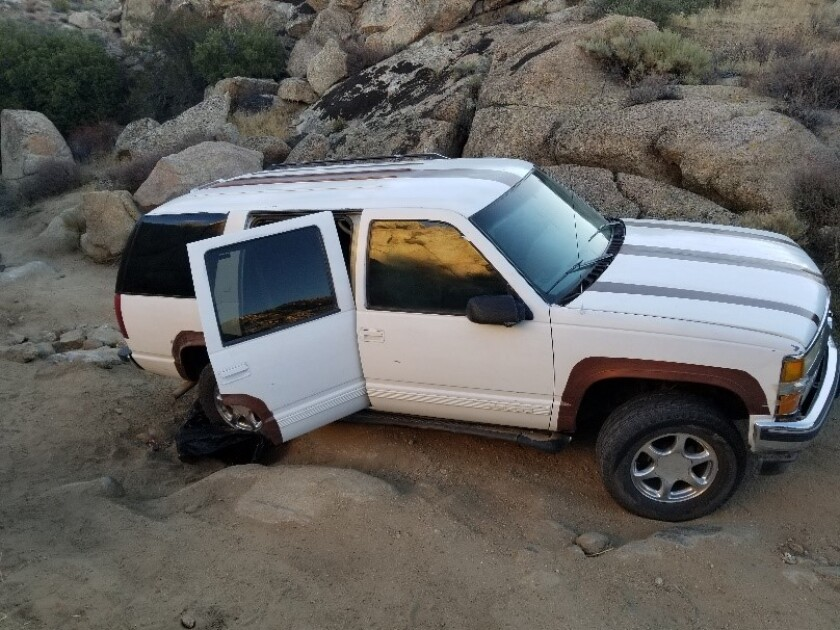 Border Patrol agents arrested 19 people in East County after a SUV got stuck near the border early Sunday.