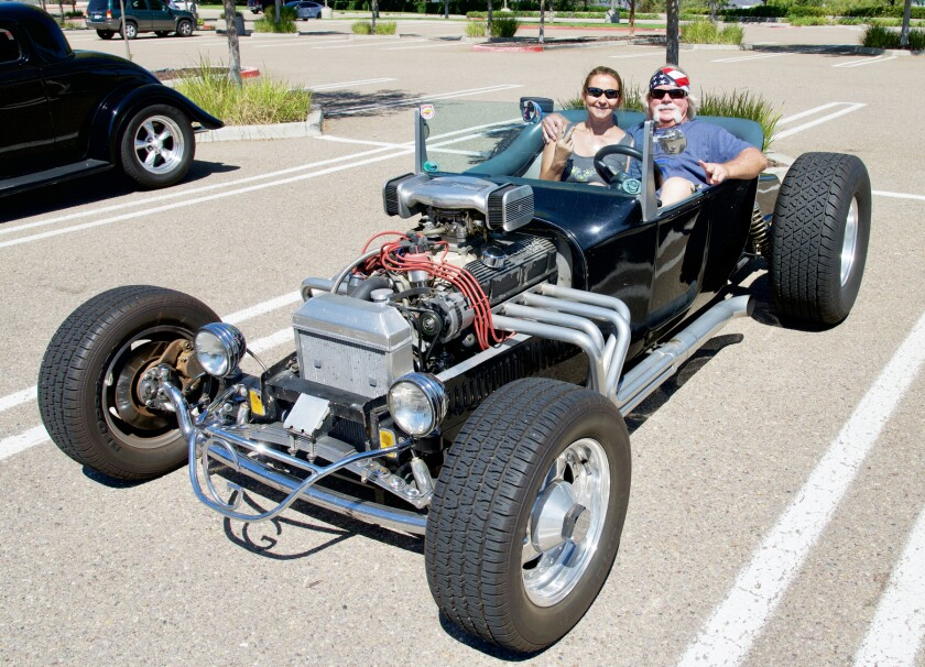 Sarah and Mitch Gladow in their 1920 Ford T-Bucket.