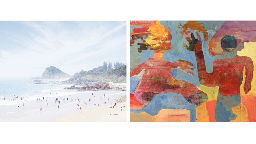 FB8, limited edition print by Dean West, $2,060, left; Contact by Dariusz Labuzek, $1,180 both at Sa