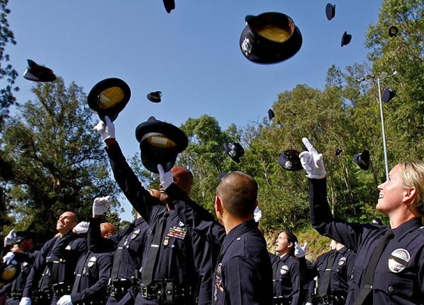 Los Angeles Police Academy graduation