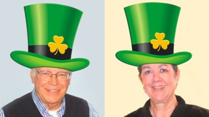 Scott Dodge has been named 2014 Irish Man of the Year and Mary Johnson as 2014 San Diego Woman of the Year by the Irish Congress of Southern California for their legendary community service. They will ride in the 34th annual St. Patrick's Day Parade Saturday, March 15, 2014 in Balboa Park, San Dieg