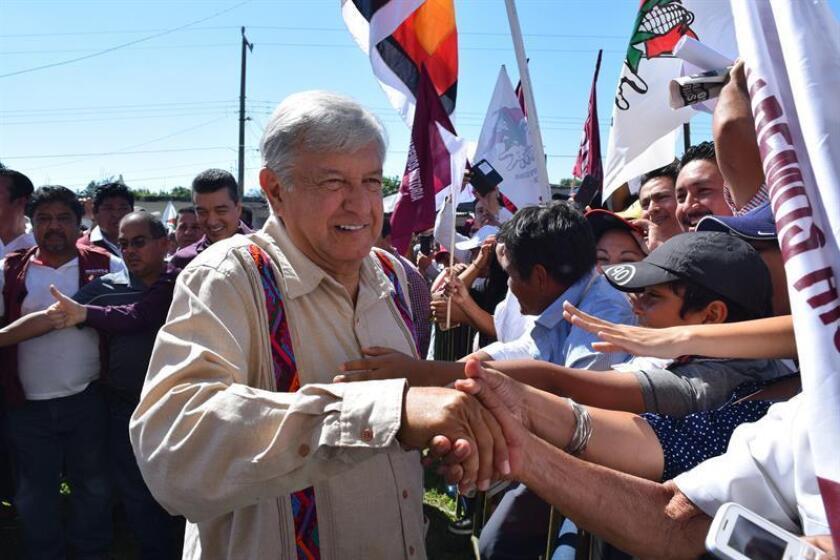 El líder izquierdista Andrés Manuel López Obrador.