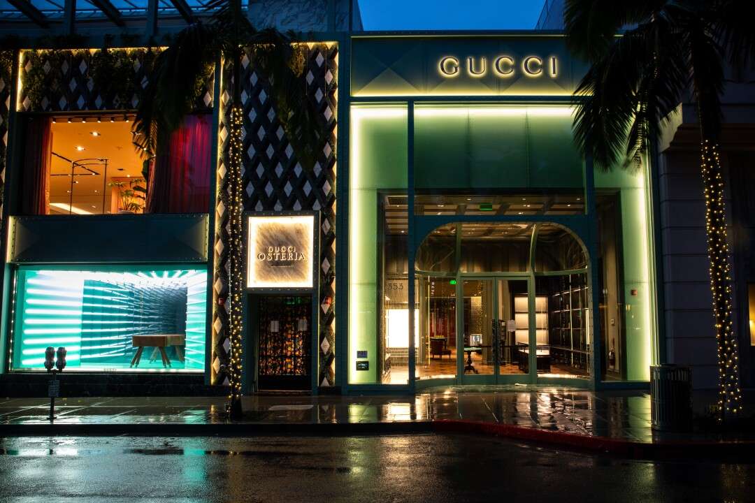 Gucci has also cleared out their store on Rodeo Drive in Beverly Hills