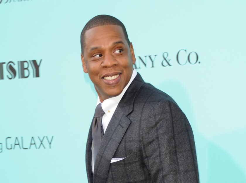 "Jay-Z at ""The Great Gatsby"" world premiere in New York."