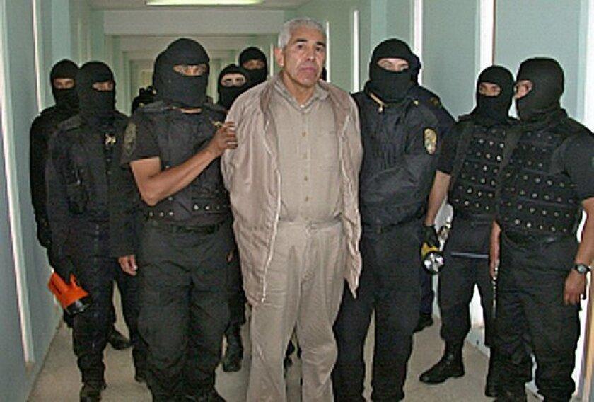 Rafael Caro Quintero is seen at the Puente Grande prison in Guadalajara in 2005.