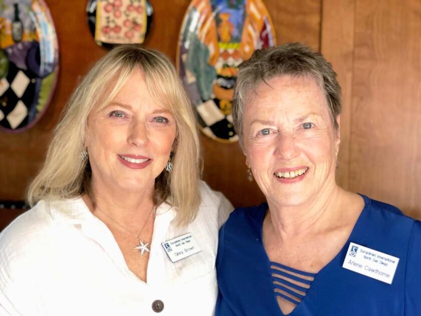 Soroptimist president Arlene Cawthorne